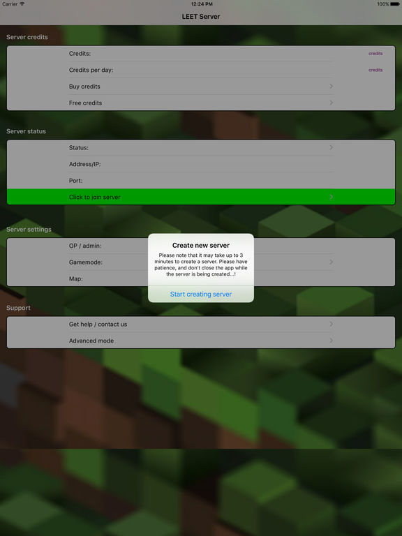 LEET Minecraft Servers - Multiplayer Server for Minecraft PE Edition screenshot