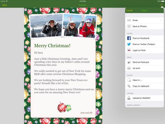 Christmas Lifecards iPad Screenshot 4