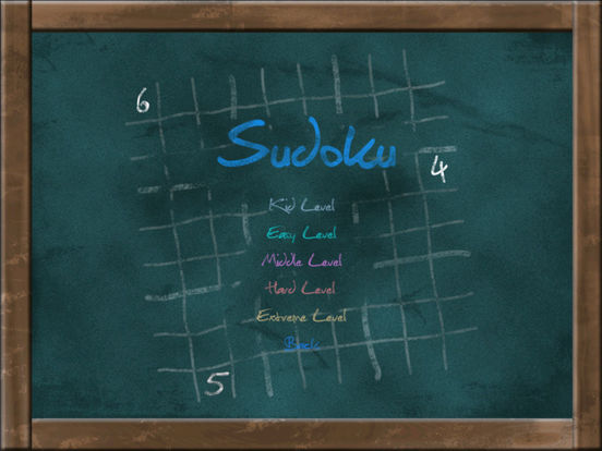 Sudoku on Chalkboard Screenshots