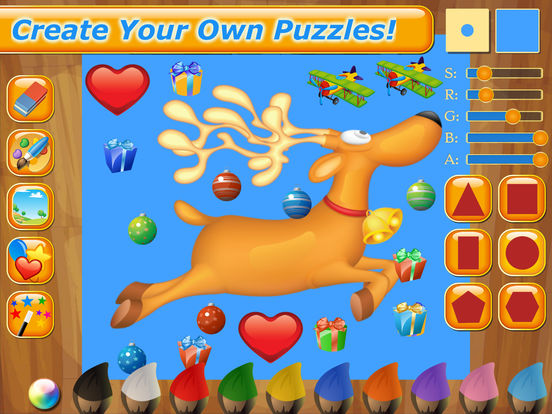 Happy Christmas Time with Santa Claus, Snowman, Elf, Reindeer Jigsaw Puzzles: Fun Educational Game for Kids and Toddlers screenshot 9
