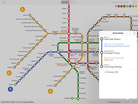 Explore Taipei metro map iPad Screenshot 2