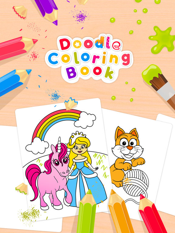 Doodle Coloring Book - Color & Draw (No Ads)screeshot 1