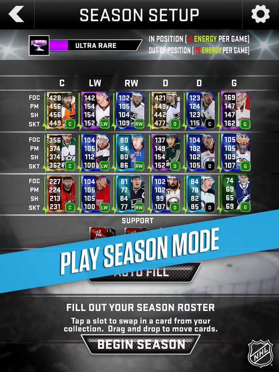Screenshots of NHL SuperCard 2K17 for iPad