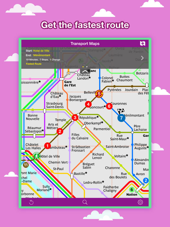 Paris City Maps - Discover PAR with Metro & Bus Screenshots