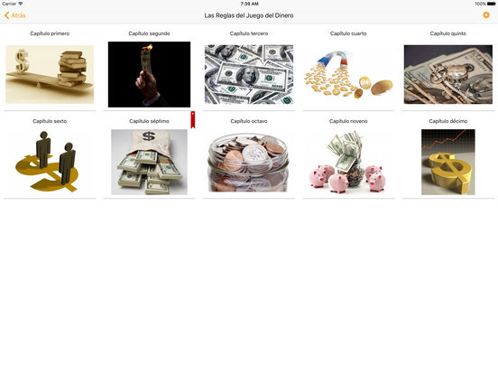 Las Reglas del Juego del Dinero - Audiolibro iPad Screenshot 1
