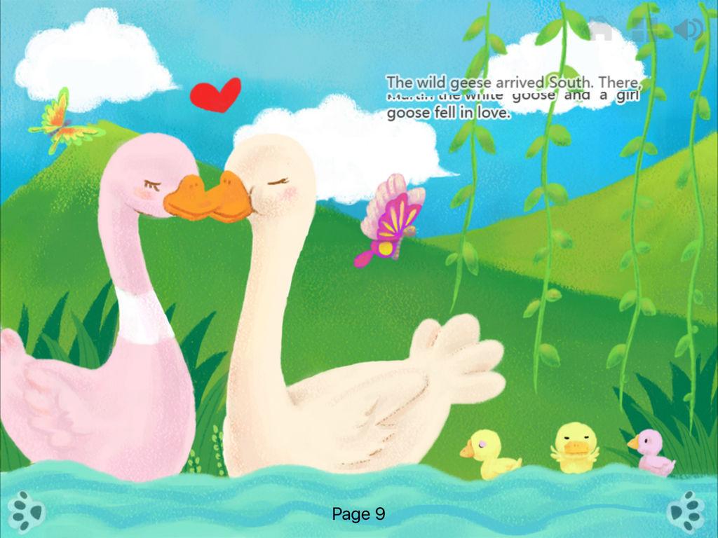 可以摸到的动画有声故事书:iBigToy品牌经典儿童名著《尼尔斯骑鹅旅行记》iPad版发布。 最优秀的阅读体验:每页均带有交互动画的插画有声书籍 革命性多媒体形式的经典儿童读物:精细设计的故事书和绝佳的声音图像体验。最适合您的孩子在玩耍中阅读,所有内容均为互动操作。《尼尔斯骑鹅旅行记》讲述小男孩尼尔斯玩皮透顶,特别喜欢虐待小动物,结果被小狐仙变成像大拇指般大小。