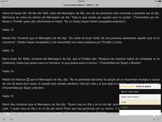 Los Cuarenta Hadices - Abu Zakaria An-Nawawi iPad Screenshot 2