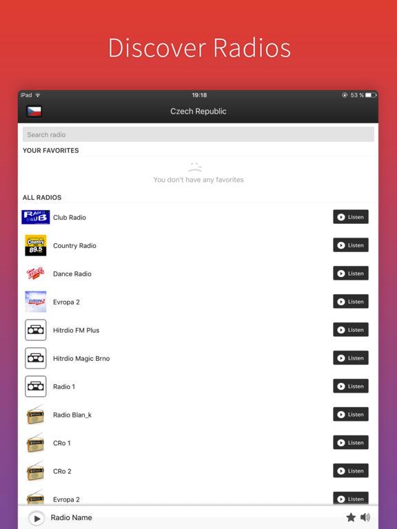 Чехия Радио - Radios CZ FREE Скриншоты3