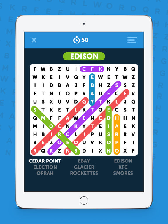 Infinite Word Search Puzzles - Multiplayer Word Search & Word Find! screenshot