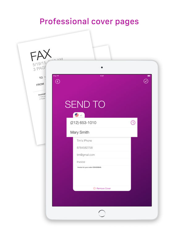 how to get fax on iphone