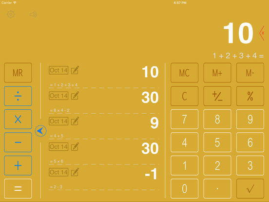 Screenshot #2 for Cloud Calculator HD - Note Calculator
