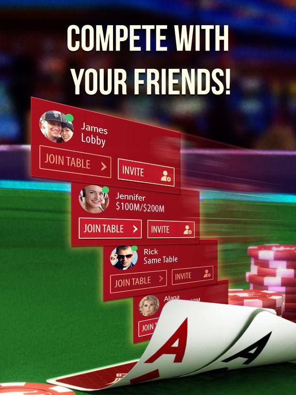 Screenshots of Zynga Poker - Texas Holdem: Vegas Casino Card Game for iPad