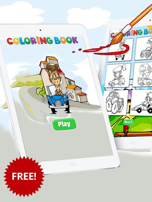 Автомобили раскраски Забронировать Бесплатно для д Скриншоты6