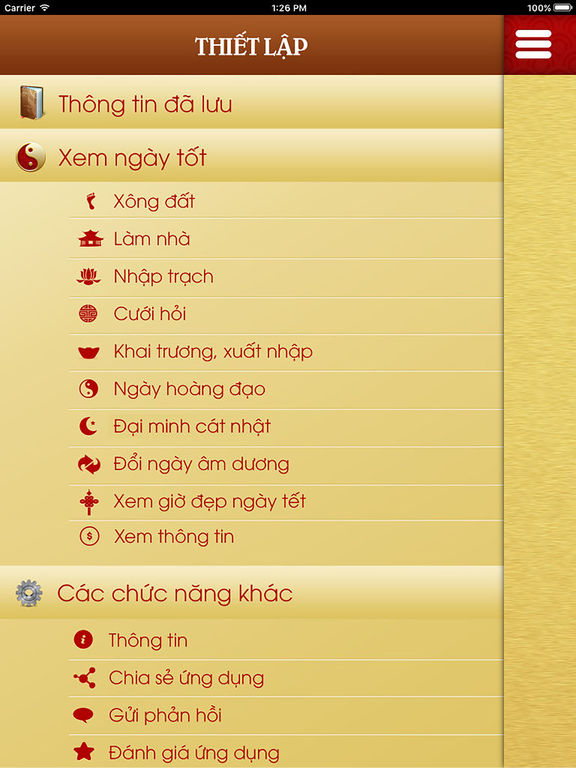 Screenshots of Xem Ngay Tot for iPad