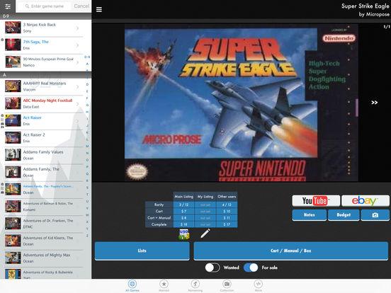 SNES Collector iPad Screenshot 1