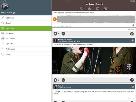 BandFriend - The Musicians Network screenshot