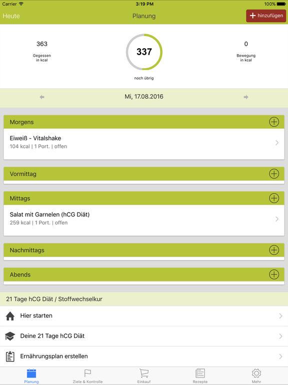 app shopper 21 tage hcg di t healthcare fitness. Black Bedroom Furniture Sets. Home Design Ideas