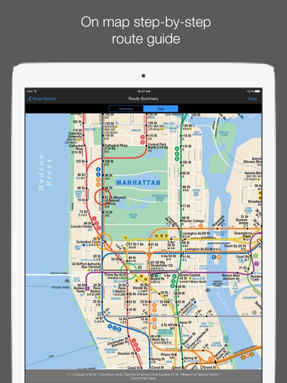 New York Subway Map screenshot