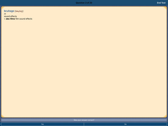 PONS Compact Dictionary French <-> English iPad Screenshot 4