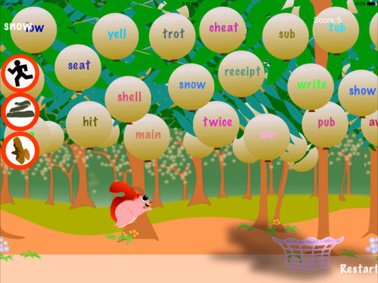 Squirrel Sight Words Screenshots