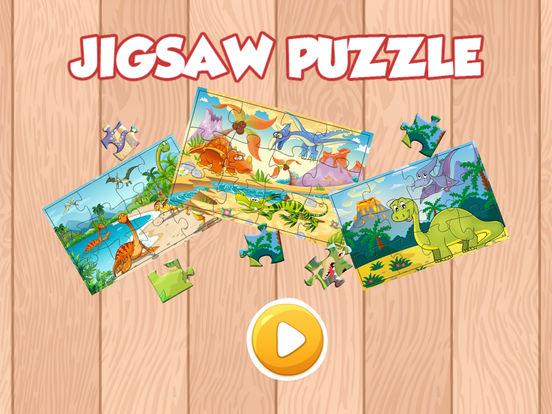 Мультфильм Дино Динозавр Пазлы Jigsaw игры Скриншоты4
