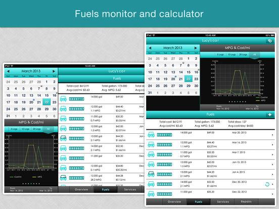 Fuel Monitor Pro - MPG, Car Repair and Service Log Screenshots