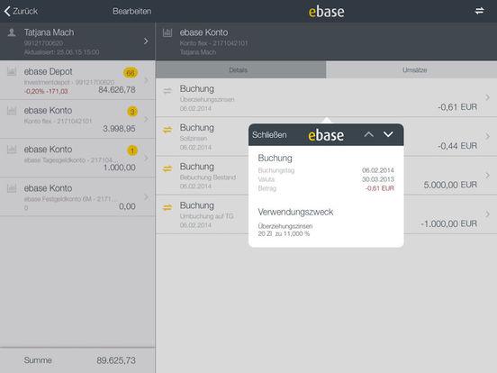 ebase Mobile iPad Screenshot 4
