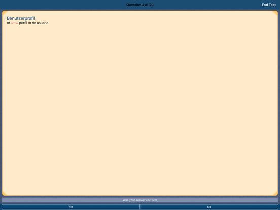 PONS Compact Dictionary Spanish <> German iPad Screenshot 5