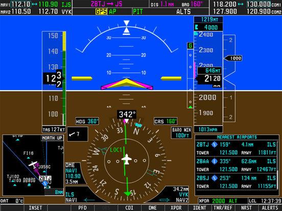 Simionic Simulator for Garmin G1000 (PFD) для iPad