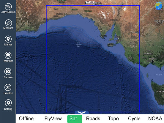 Marine: Adelaide HD - GPS Map Navigator iPad Screenshot 5