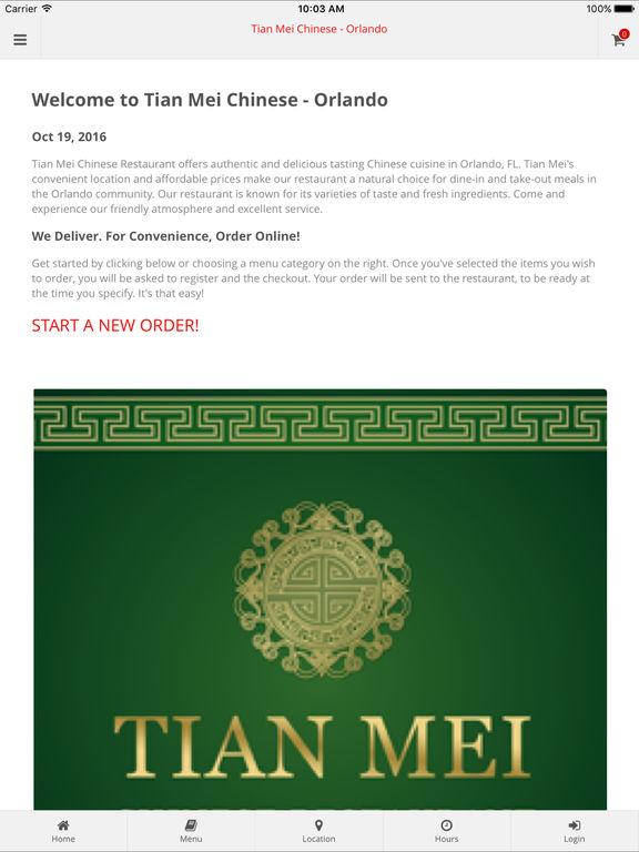 App Shopper: Tian Mei Chinese Restaurant (Food & Drink)