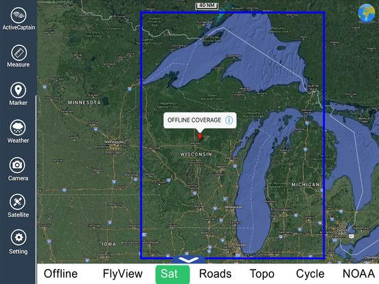 Marine: Michigan & Superior Lakes HD iPad Screenshot 5