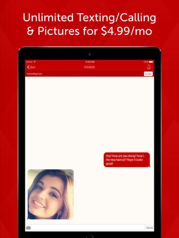 Hushed - Free Phone Number for Anonymous Texting, Calling and Discreet Pictures screenshot