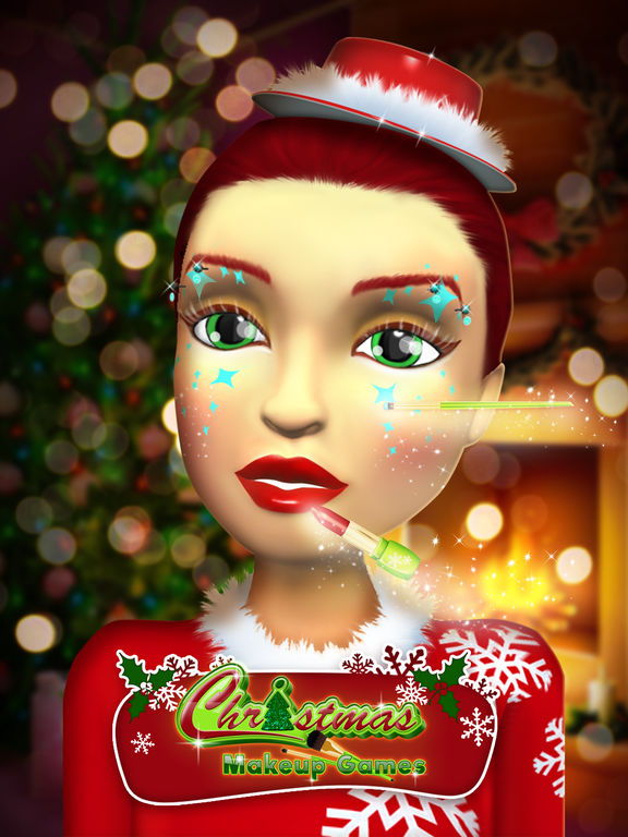 App shopper christmas makeup games beauty salon for girl for 3d beauty salon games