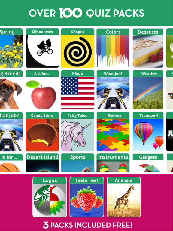 Screenshots of 100 PICS Quiz - Play daily Guess what's the Picture Puzzle trivia games for free! for iPad