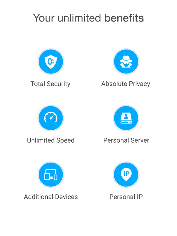 Screenshots of VPN Unlimited – Best Anonymous & Secure VPN Proxy for iPad