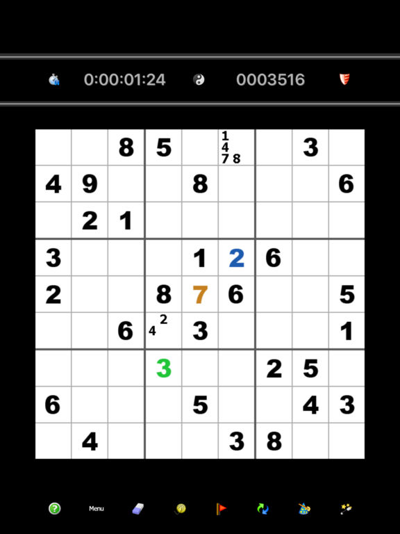 Sudoku Pro - Easy to extreme and enter your own.screeshot 1
