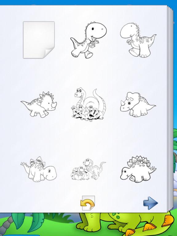 Книжка-раскраска с динозаврами