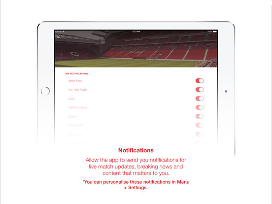 Liverpool FC Match & News Centre iPad Screenshot 5