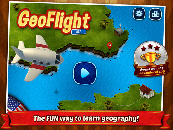 GeoFlight USA - Fun geography quiz for kids Screenshots