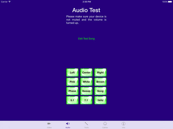 AV Aid - Audio Visual Test Generator and Tool Kit Screenshots