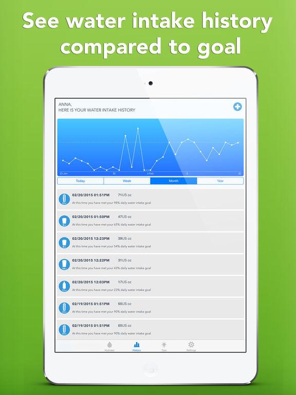 WaterMinder® - Hydration Reminder & Tracker Screenshots