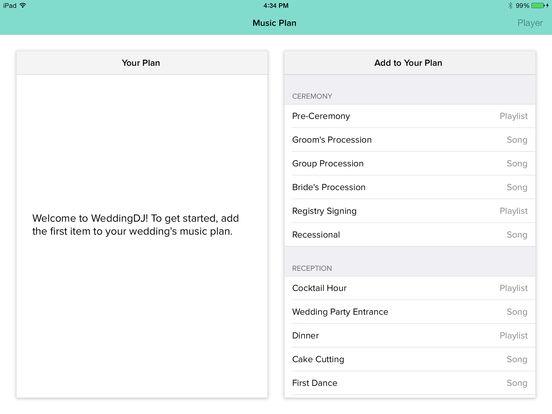 My WeddingDJ iPad Screenshot 3