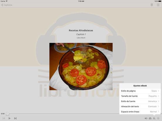 Recetas Afrodisíacas – AudioEbook iPad Screenshot 1
