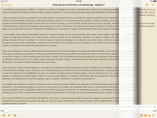 El Secreto de las Pirámides y de Stonehenge - AudioEbook iPad Screenshot 3