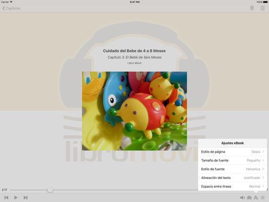 Cuidado del Bebe de 4 a 8 Meses - AudioEbook iPad Screenshot 1