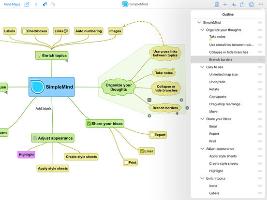 SimpleMind for iPad - mindmapping iPad Screenshot 2