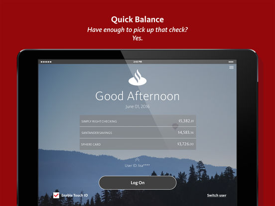 Personal Banking screenshot