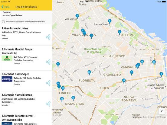 Páginas Amarillas Argentina iPad Screenshot 4