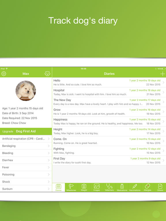 Dog Buddy Free - My Dog File screenshot